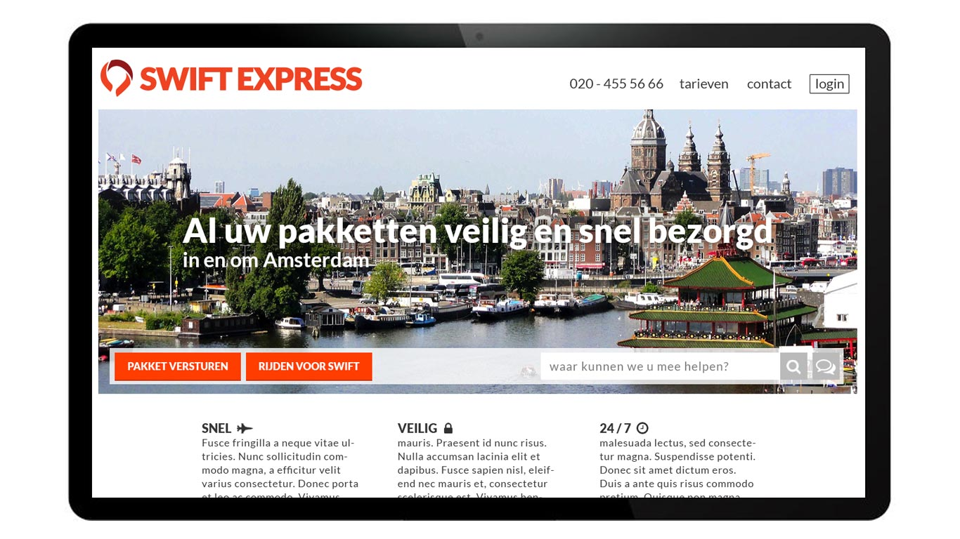 swift-express-homepage
